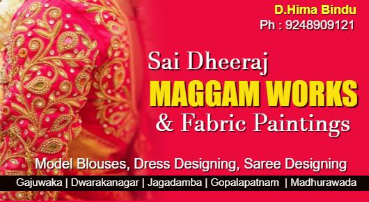 Sai Dheeraj Maggam works and Fabric Paintings, Murali Nagar  In Visakhapatnam, Vizag